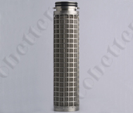 Pleated Stainless Steel Wire Cloth Filter Cartridge